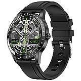 QFSLR Smartwatch Orologio Sportivo Fitness Tracker con Cardiofrequenzimetro Monitoraggio del Sonno Saturimetro(Spo2) Contapassi Pressione Sanguigna Impermeabile IP68 per Android iOS,Black e