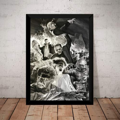 Quadro Decorativo Monstro Dracula Terror Arte De Alex Ross