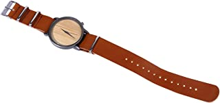 Hemobllo Women Watches Leather Band Quartz Watches Girls Ladies Wristwatch Wooden Wrist Watch Brown