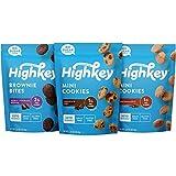 Gourmet Food Gifts! - HighKey Keto Food Low Carb Snack Cookies Variety Pack - Chocolate Chip, Brownie Bites & Snickerdoodle - 3 Pack - Gluten Free & No Sugar Added, Diabetic, Paleo, Dessert Sweets and Diet Foods