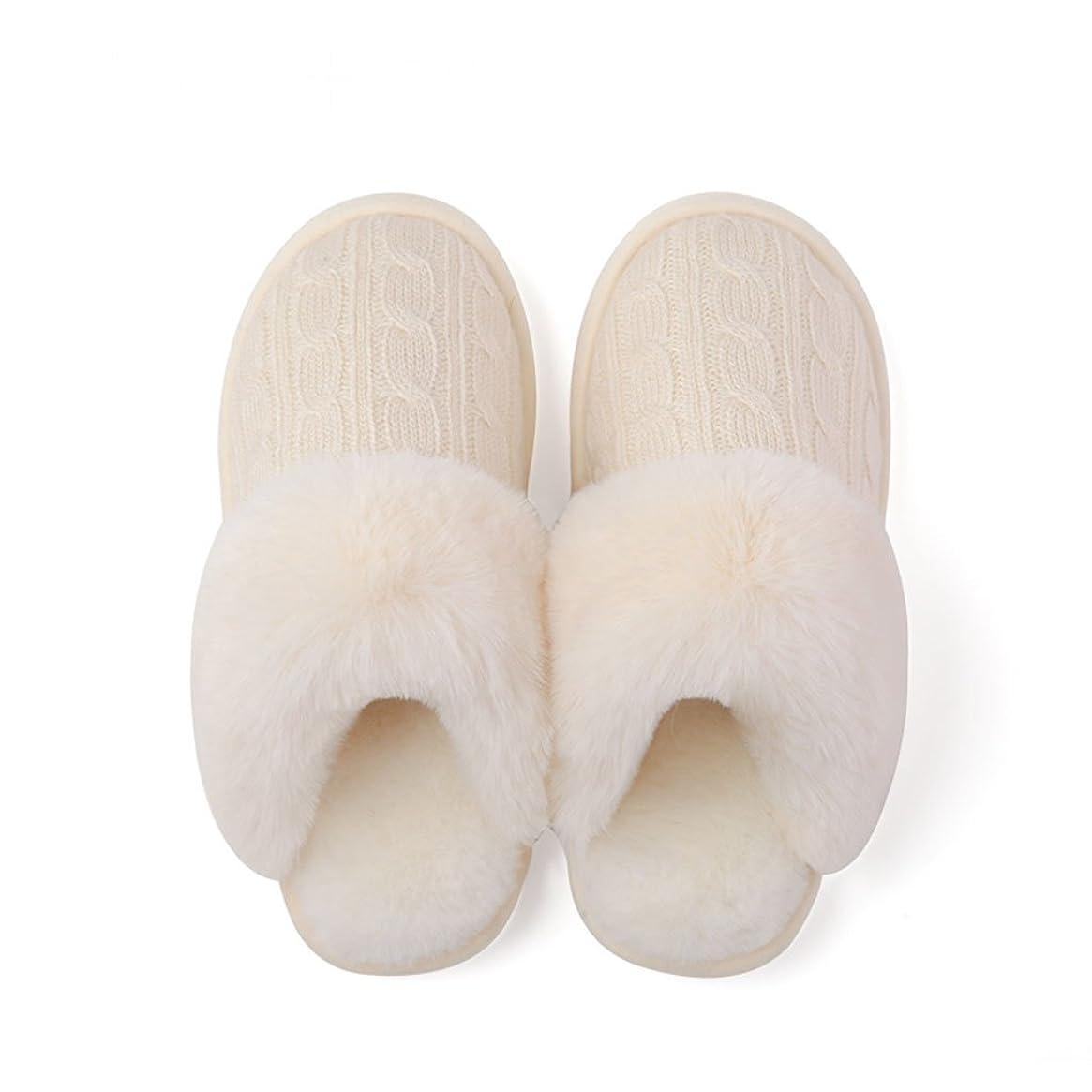 きらめき発火するストレッチホーム愛好家の綿のスリッパ女性の冬の室内温かいスリップ滑り止めの厚い靴 ( 色 : Pattern 2 , サイズ さいず : EUR:35-36 )
