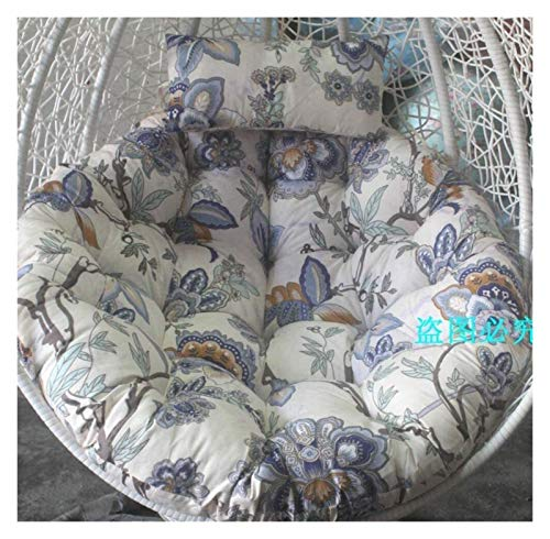 DYYD Egg Chair Cushion Swing Chair Cushion, Round Patio Garden Wicker Hanging Egg Rattan Chair Hammock Pad, Indoor Or Outdoor, Without Stand (Color : U)