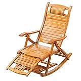 Silla Zero Gravity, sillones, sillón para acampar, sillones, mecedora plegable de madera para balcón, silla con respaldo ajustable de bambú con reposacabezas y masaje de pies Tumbonas al aire libre