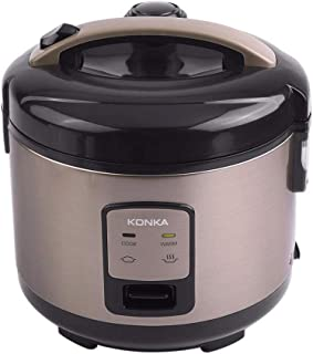 fang zhou 3L Kitchen Multi-Function Heating Rice Cooker with Detachable Inner Cover and Non-Slip Bottom Pad - Built-in Steamer Function, Suitable for Whole Family
