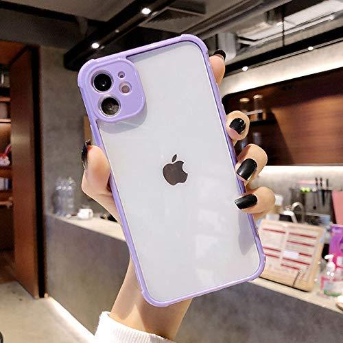FYMIJJ Protección de la Lente de la cámara Bumper Funda para teléfono para iPhone 11 Pro MAX XR XS MAX SE 12 X 8 6 6S 7 Plus Funda Trasera de Silicona Suave Regalo, T4, para iPhone 8 Plus