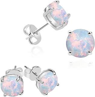 2mm opal stud earrings