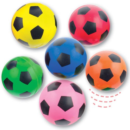 Baker Ross Pelotas goma diseño balón fútbol niños