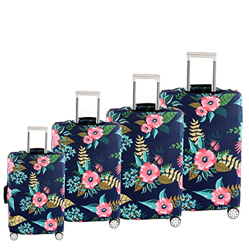 Guiping Decoration 18' - 32' Protective Luggage Suitcase Dust Cover Protector Elastic Anti Scratch Decorations (Color : S)