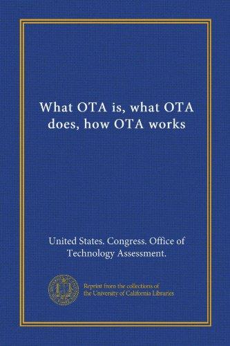 What OTA is, what OTA does, how OTA works