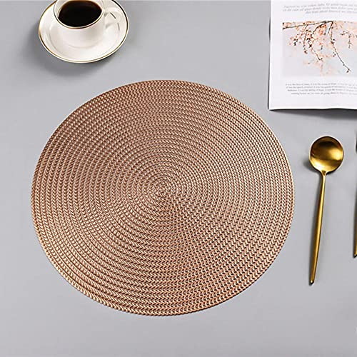 SEOLQX Mantel individual de PVC redondo nórdico para mesa de comedor, antideslizante, impermeable, aislamiento térmico, posavasos para bebidas, mantel individual, cojín de 40 x 30 cm