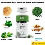 Triptofano Naturale con Melatonina e Spirulina   70 Compresse   Formula naturale per migliorare il sonno, ridurre l'ansia, aumentare l'energia, la concentrazione e il benessere