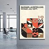 IFUNEW Cuadros Decorativos Berlin Geometric Museum Art Exhibition Poster and Wall Art Work 60x90cm