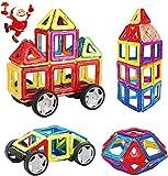 INTEY Magnetische Bausteine 32 Teile, Magnetspielzeug Bauklötze Puzzle mit Riesenrad und Aufbewahrungstasche