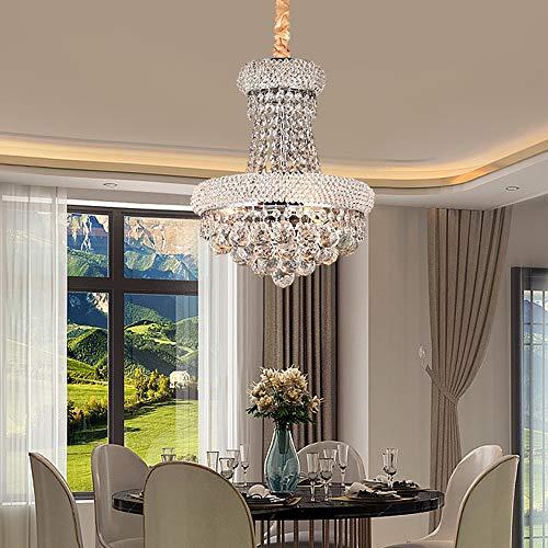 Faus Koco Lámpara de techo de cristal de lujo estilo retro europeo de 35 cm de diámetro para Villa Hotel Restaurante Sala de estar Comedor Luz cálida