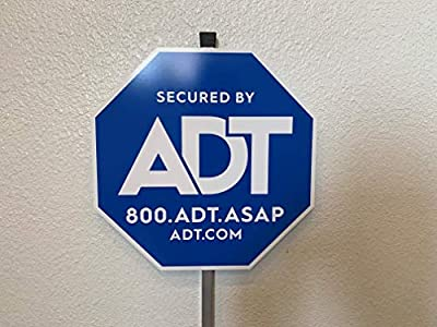 """Authentic ADT Yard Sign with Aluminum Post 27"""""""