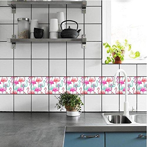 MINRAN DECOR BJ Art de tuiles Mural - Adhésif carrelage   Sticker Autocollant Carrelage - Mosaïque carrelage Mural Salle de Bain et Cuisine   - 20x20 cm - 10 pièces TS008