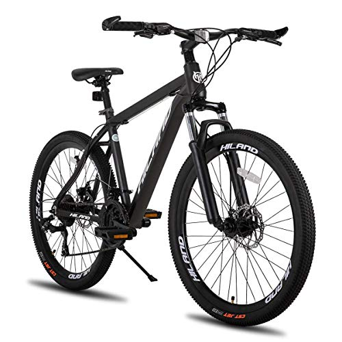 Hiland 26 Inch Mountain Bike for Men with 19.6 Inch Aluminum Grey