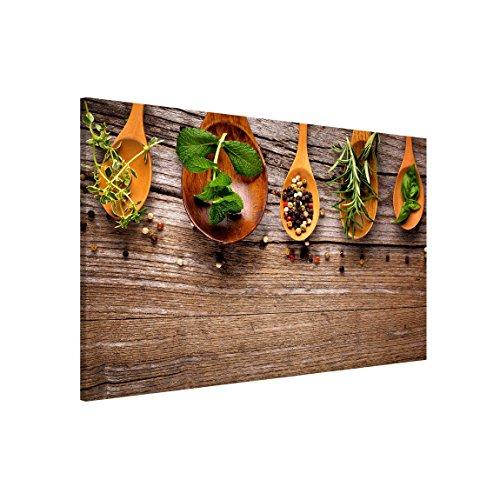 Bilderwelten Magnettafel - Kräuter und Gewürze - Memoboard Querformat 2:3, Wandbild Magnettafel Pinnwand Magnetboard Magnetpinnwand Magnetwand Stahl Küche Büro, Größe HxB: 40cm x 60cm