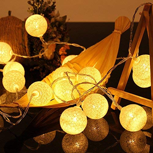 Lights & Lighting Room Led Garland Cotton String Balls Lights Diy 6cm Cotton Ball Light Chain Fairy Led Lights Birthday Gifts Party Decoration Making Things Convenient For Customers Lighting Strings