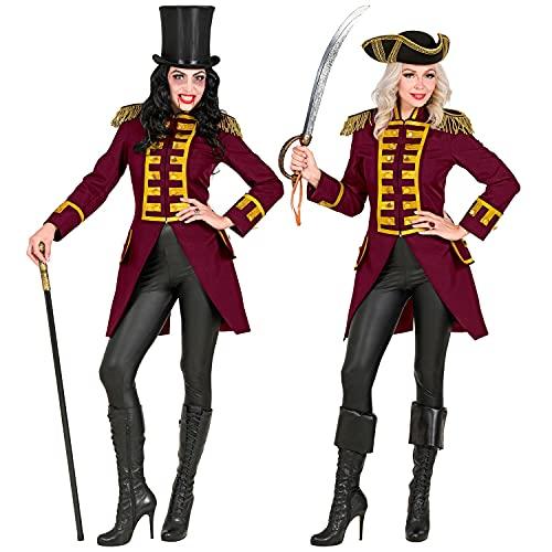 WIDMANN 49593 49593 - Uniforme de garde rojo vino, parade, chaqueta, abrigo, director de circo, disfraz, carnaval, fiesta temática, mujer, multicolor, L