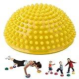 Knowooh Bouncy Ball Hopping Toy Masaje Trigger Point Half Ball Fitness Balance Ball (Amarillo)