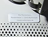 Roboterwerk Matrícula de dron de aluminio micro, placa de drones incluye envío de e-ID solicitado a partir de 2021, 1-3 líneas