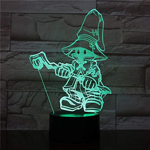 Jiushixw 3D driedimensionaal van kleur veranderende nachtlampje met afstandsbediening paar bedlampjes grijs pijl en boogvormige creatieve nachtopnames kinderen geschenk zachte bureaulamp W