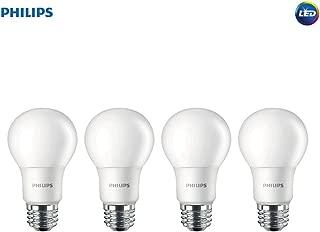 Philips LED Non-Dimmable A19 Frosted Light Bulb: 1500-Lumen, 5000-Kelvin, 14-Watt (100-Watt Equivalent), E26 Medium Screw Base, Daylight, 4-Pack, 455717