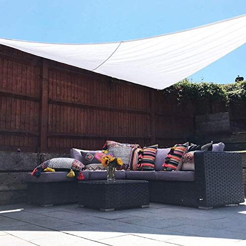 XRDSHY Toldo Vela De Sombra Triangular para Patio Exteriores Jardín Toldo Resistente E Impermeable para Jardin Camping,White-3X3X4.3m