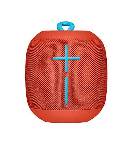 Logitech Ultimate Ears WONDERBOOM Super Portable Waterproof Bluetooth Speaker - Fireball Red(Renewed)