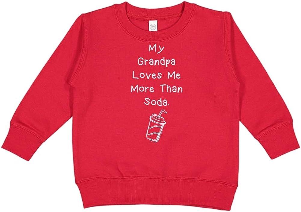 My Grandpa Loves Me More Than Soda Toddler//Kids Sweatshirt