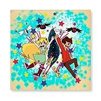 悪魔バスター スター バタフライ 壁掛け 部屋飾り 掛け絵 キャンバス素材 背景絵画 壁アート 装飾 軽くて取り付けやすい