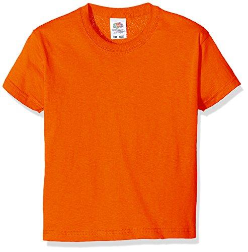 Fruit of the Loom SS132B - T-Shirt - Fille - Orange - 152 Cm, 12-13 Ans