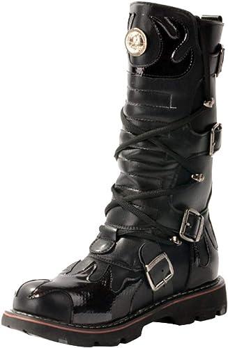 Calzado De Invierno De herren Suela Gruesa De Moda Al Aire Libre Tubo Largo Stiefel Casuales Encaje Martin Calzado Utilitario De Trabajo Para herren