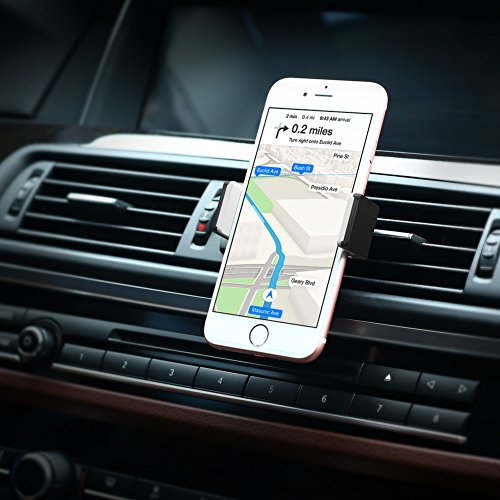 UGREEN Car Phone Mount Air Vent Cell Phone Stand Cradle 360 Degree Rotation Compatible for iPhone 11 Pro XS Max XR X 8 7 6S Plus, Samsung Galaxy Note 10 S10 S9 S8 Plus, Pixel 3, 3.5-6.5 Inch Devices