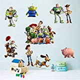 Toy Story Sticker Children's Cartoon Bedroom Background Wall Decoration Self-Adhesive Wall Sticker PVC.
