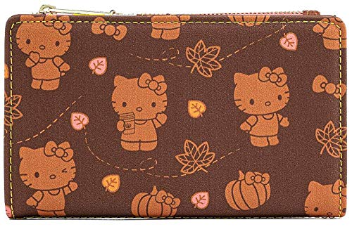 Hello Kitty Loungefly - Pumpkin Spice Femme Portefeuille Multicolore, Imitation Cuir,