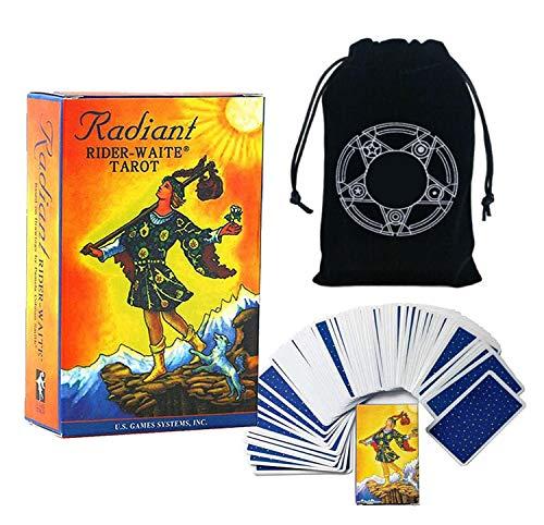 Cartes de Tarot Divination des Jeux de société pour Adultes et Enfants de Divertissement à Jouer Cartes de Cartes de Cartes et Sac