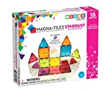 Magna-Tiles Stardust Set, The Original Magnetic Building Tiles for Creative Open-Ended Play, Educational Toys for Children Ages 3 Years + (15 Pieces Including Glitter and Mirrors)
