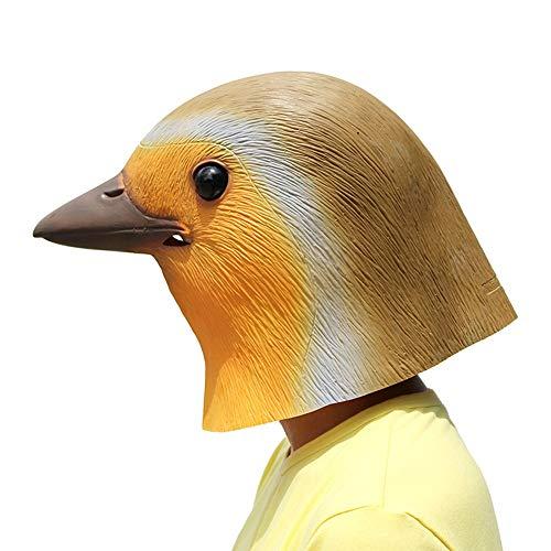 PartyCostume Máscara de Cabeza Animal de Látex de Fiesta de TrajeLujo de Halloween de Robin