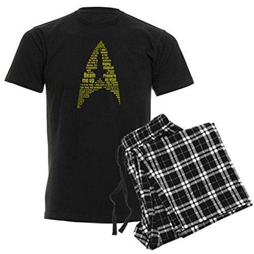 CafePress Star Trek Quotes (Insignia) Unisex Novelty Cotton Pajama Set, Comfortable PJ Sleepwear