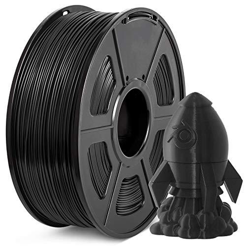 Filamento PLA+ 1.75mm, JAYO PLA Plus Filamento de Impresora 3D, tolerancia de diámetro +/- 0,02 mm, 1kg Spool, PLA+ Negro