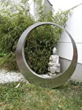 Zen Man 031510-2S - Figura de jardín (Acero Inoxidable, 60 x 60 x 5 cm)