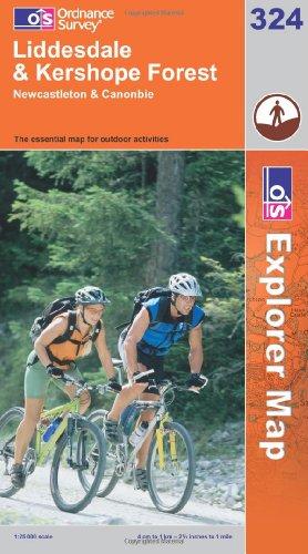 OS Explorer map 324 : Liddesdale & Kershope Forest