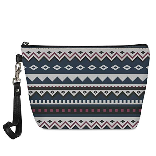 Women's Leather Small Boho Stripe Makeup Bags Fashion Sunflower Mini Cosmetic Bags for Girls