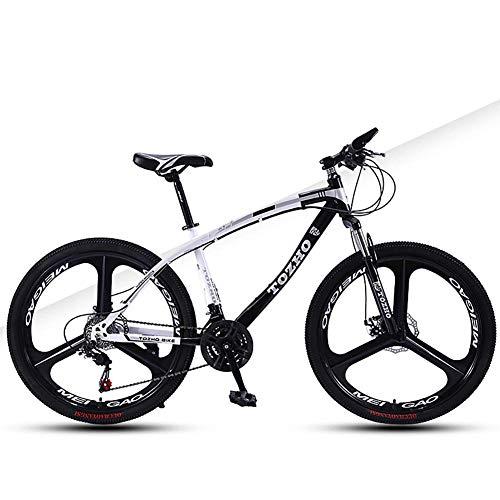 TYPO Bicicleta para niños, Bicicleta de montaña para niños, 24 Pulgadas, con absorción de Impactos, Marco de Acero de Alto Carbono Alta dureza Frenos de Disco Dual Todoterreno Hombres y Mujeres a