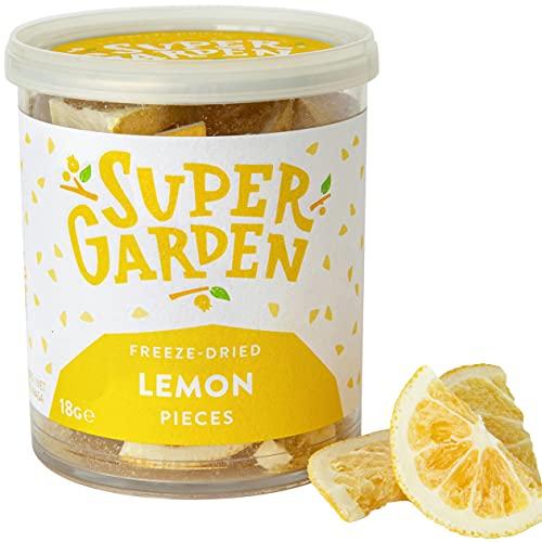 Supergarden Trozos de limón liofilizados - Producto 100% puro y natural -...