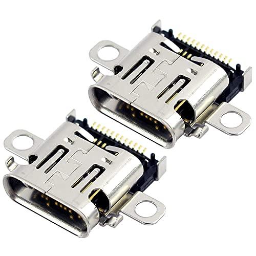 Kaimeilai Conector de carga para Nintendo Switch NS, 2 unidades, conector de carga para Nintendo Switch NS, conector de carga de repuesto, accesorio de reparación, para conmutador NS