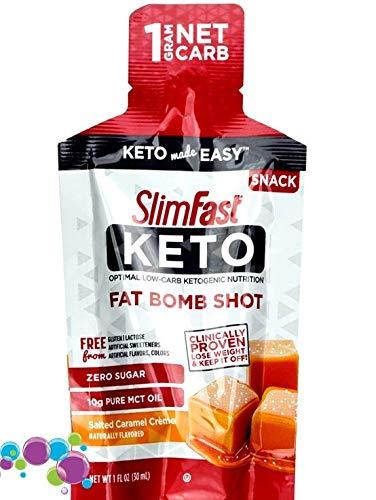 Slim Fast Keto Fat Bomb Shot, Salted Caramel Creme 3x30ml