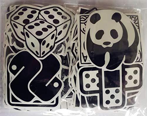 DMF A120 Aufkleber Schwarz-Weiß Graffiti Decals Bumper Stickers für Auto, 120 Stück